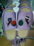 Cat watermelon smashing sandals